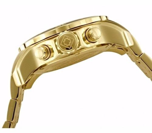 relógio invicta pro diver - 0073 - original dourado e azul