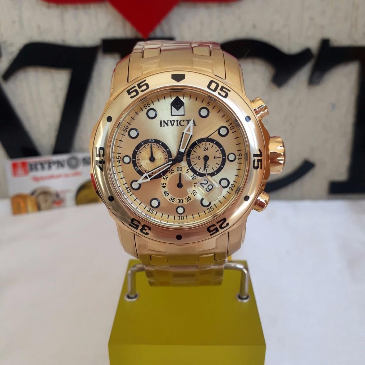 a0df4e9692b relógio invicta pro diver 0074  21924 original ouro 18k. Carregando zoom.