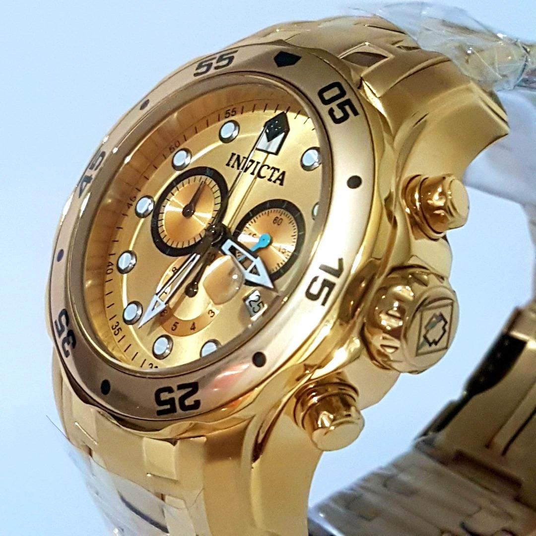 53ab13a999b Relogio Invicta Pro Diver 0074 Banhado A Ouro 18k Originall - R  499 ...
