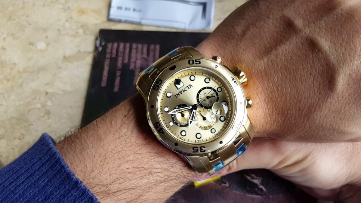 efb26cb7990 relógio invicta pro diver 0074 - dourado masculino. Carregando zoom.