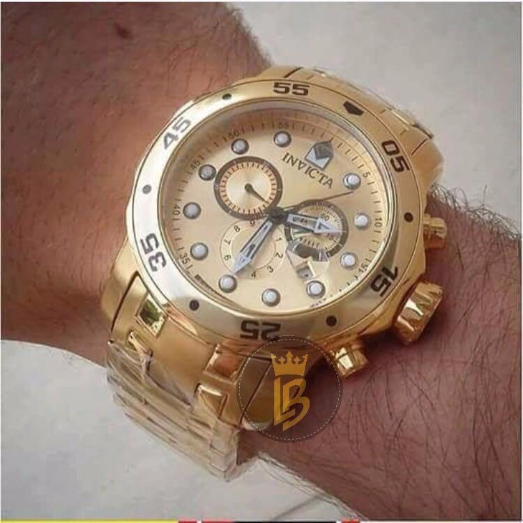 3364cd17a1f Relógio Invicta Pro Diver 0074 - Dourado Masculino Original - R  789 ...