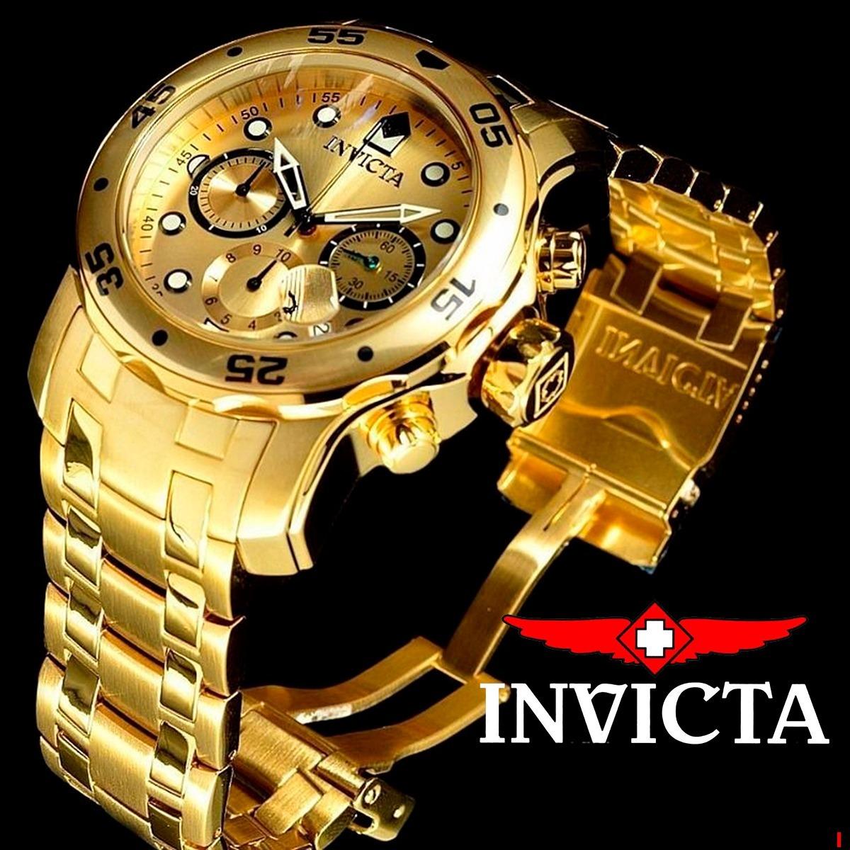 8c60f63d75 relógio invicta pro diver 0074 ouro18k original masculino nf. Carregando  zoom.