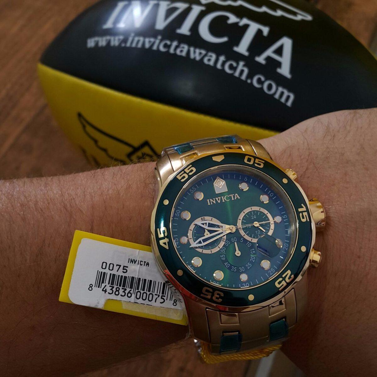 e492f84d926 relógio invicta pro diver 0075 banhado a ouro 18k oriiginal. Carregando  zoom.
