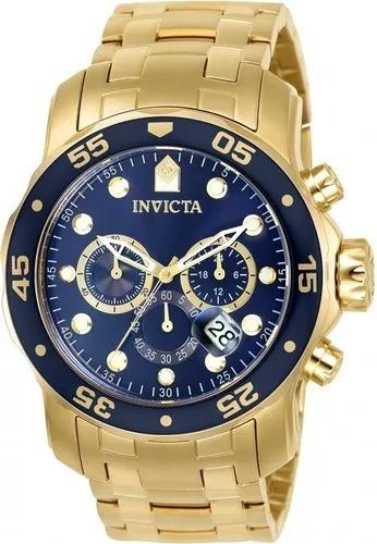 relógio invicta pro diver 0075 original banhado a ouro