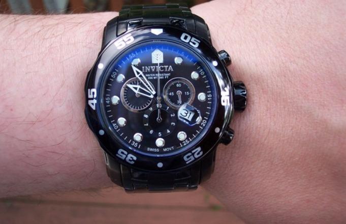 2e107dd7bad Relógio Invicta Pro Diver 0076 Preto Original 200m - R  895