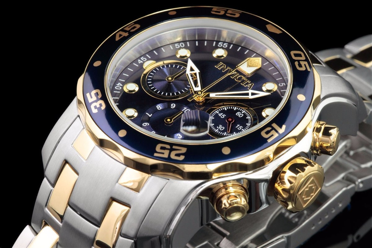 9717b9e09fb Relógio Invicta Pro Diver 0077 Misto Aço E Ouro 100% 2018 - R  699 ...