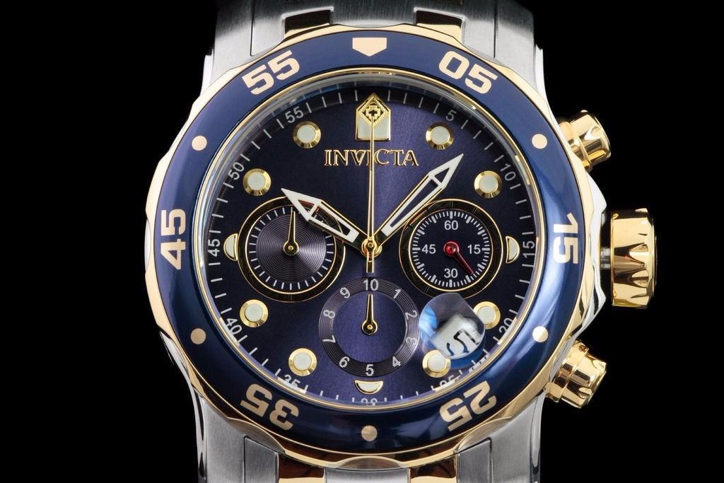 61b38c2f23a relógio invicta pro diver 0077 misto cronógrafo calendário. Carregando zoom.