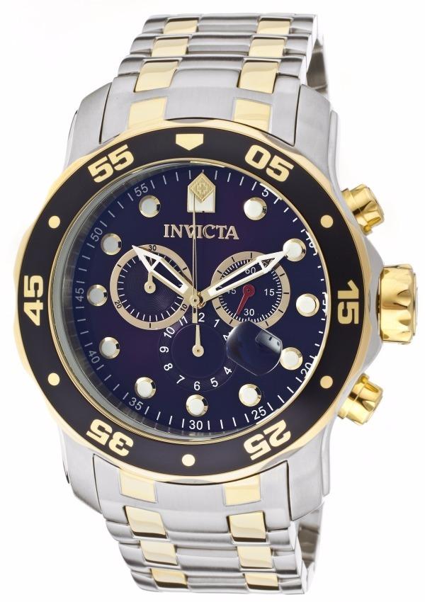 3a927511f23 relógio invicta pro diver 0077 prata dourado - frete gratis. Carregando  zoom.