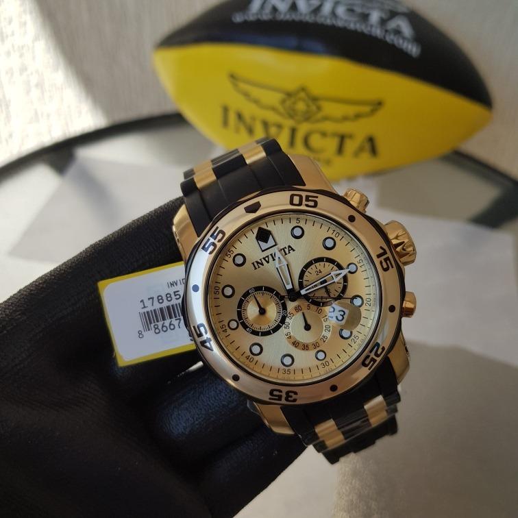 9f4f6490ac1 Relógio Invicta Pro Diver 17885 Original B.ouro 18k - R  649