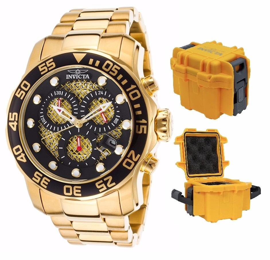e8fceec36b7 relógio invicta pro diver 19837 - dourado com caixa stank. Carregando zoom.