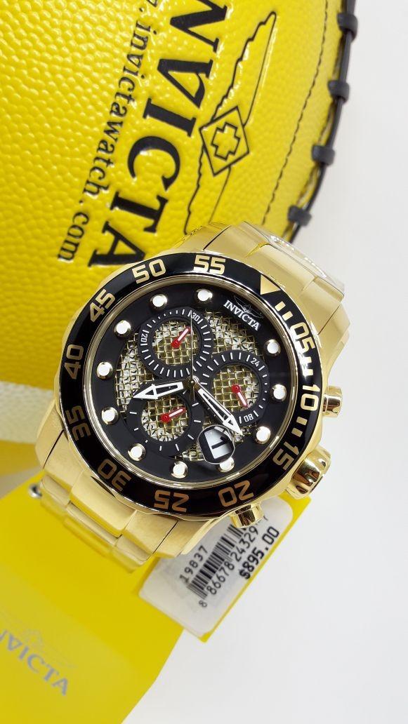 9ffbaddabf5 Características. Marca Invicta  Linha Pro Diver  Modelo Pro Diver 19837   Gênero Masculino  Cor da caixa Dourado ...