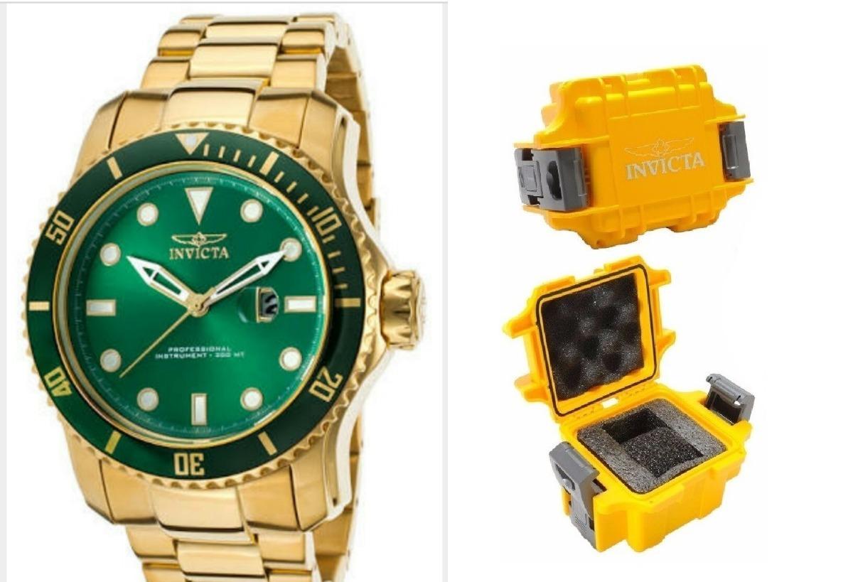 77b2ba0789c relógio invicta pro diver - 20098 dourado com cx stank. Carregando zoom.