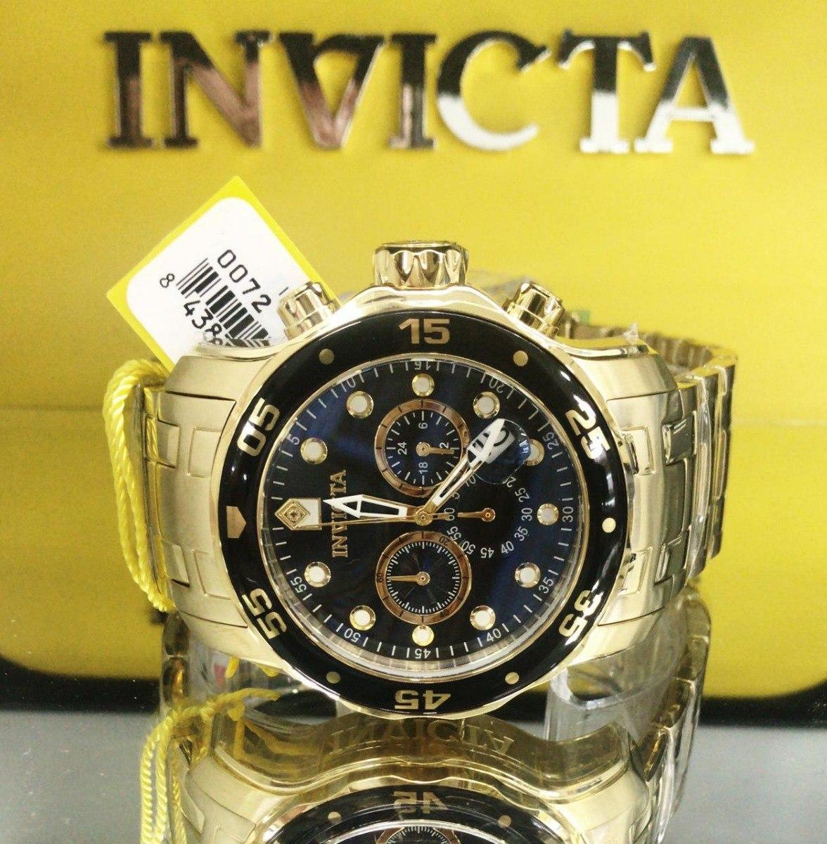 978c8ee6db1 Relógio Invicta Pro Diver 21922 0072 Original Banhado Ouro - R  698 ...