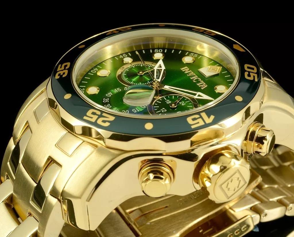 3314cfb02ab relógio invicta pro diver 21925 0075 banhado ouro original. Carregando zoom.