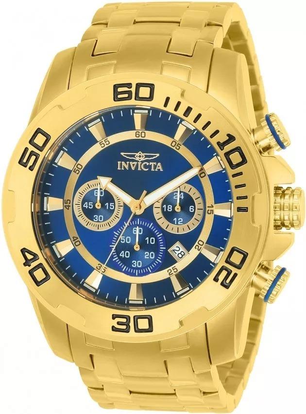 e43bcd39a24 Relógio Invicta Pro Diver 22321 Masculino Banhado Ouro 18k - R ...