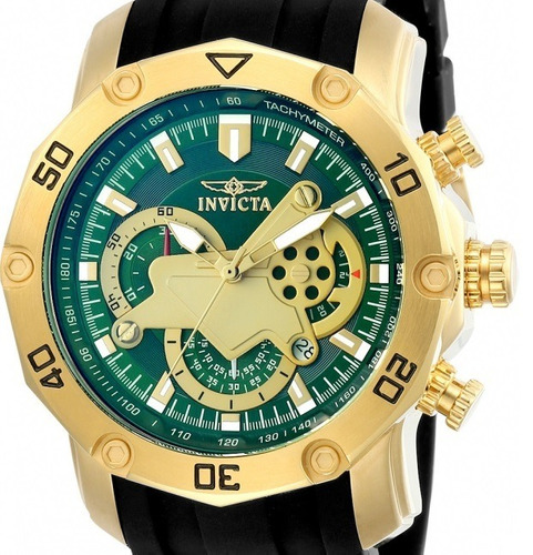 relógio invicta pro diver - 23425 dourado masculino