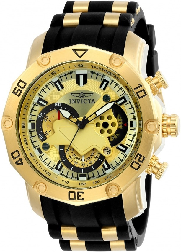 e78397fbd35 relógio invicta pro diver 23427 banhado ouro 18k original. Carregando zoom.