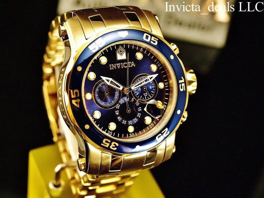 9332ede95e4 Relógio Invicta Pro Diver 23651 Banhado Ouro 18k 2 Pulseiras - R ...