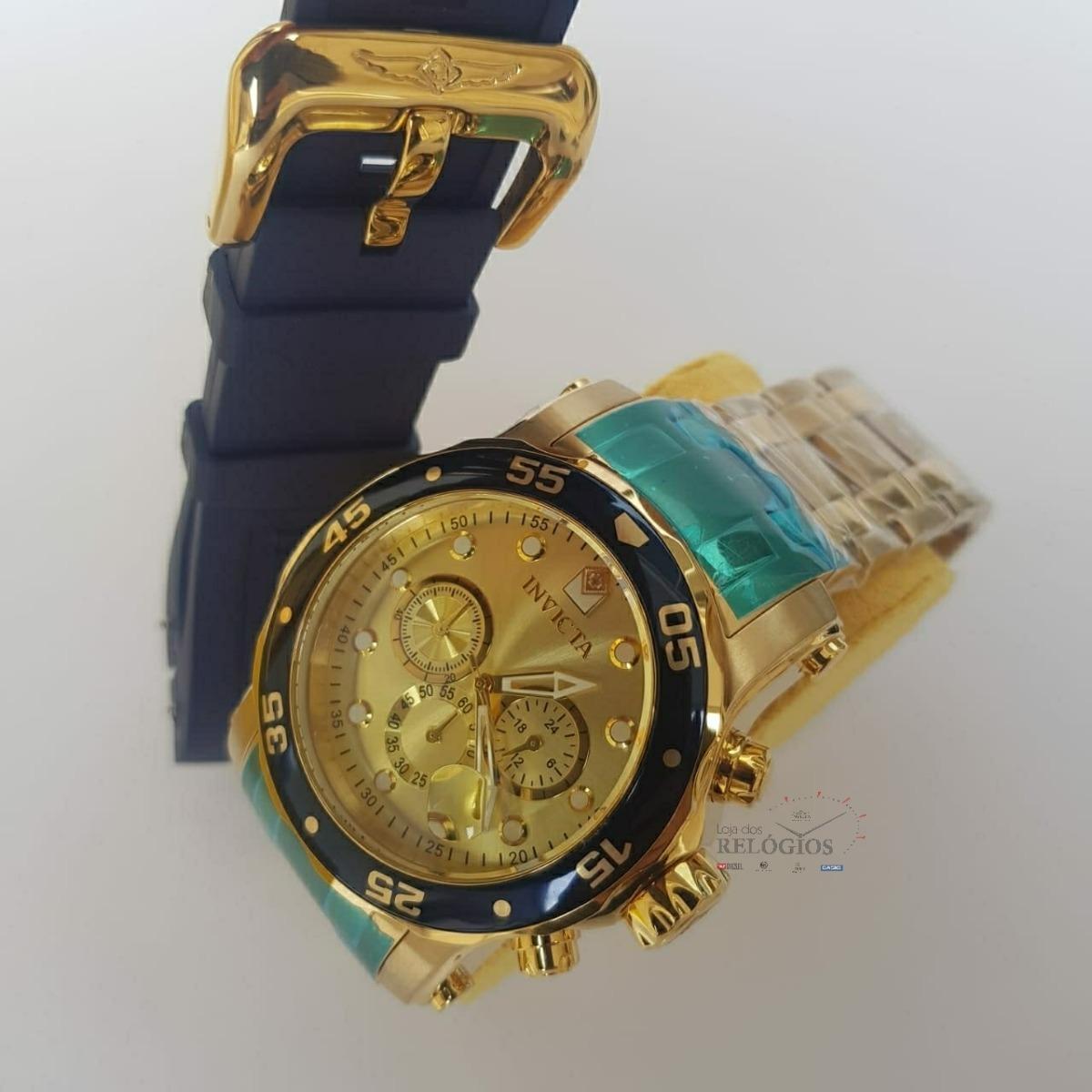 b41c2e565d7 Relógio Invicta Pró Diver 23669 Pulseira Extra 100% Original - R ...