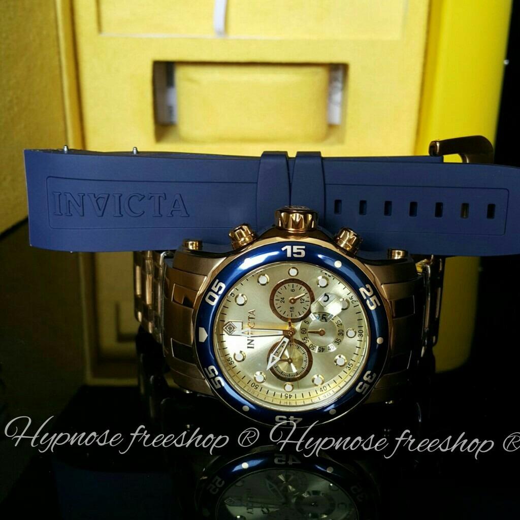 82271bb685e relógio invicta pró diver 23669 que troca a pulseira azul. Carregando zoom.