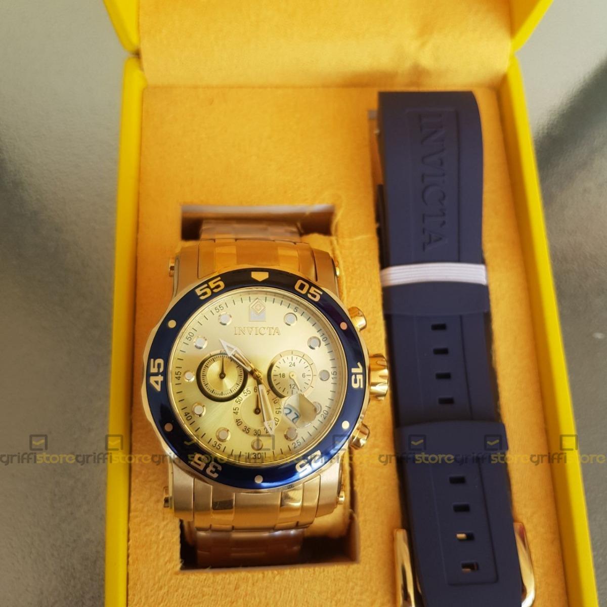 4ee69c56521 relógio invicta pro diver 23699 troca pulseira original 18k. Carregando  zoom.