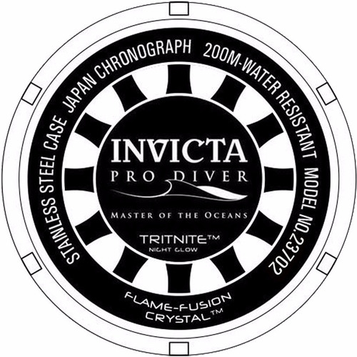 relógio invicta pro diver 23702 gold case black banhado 18k