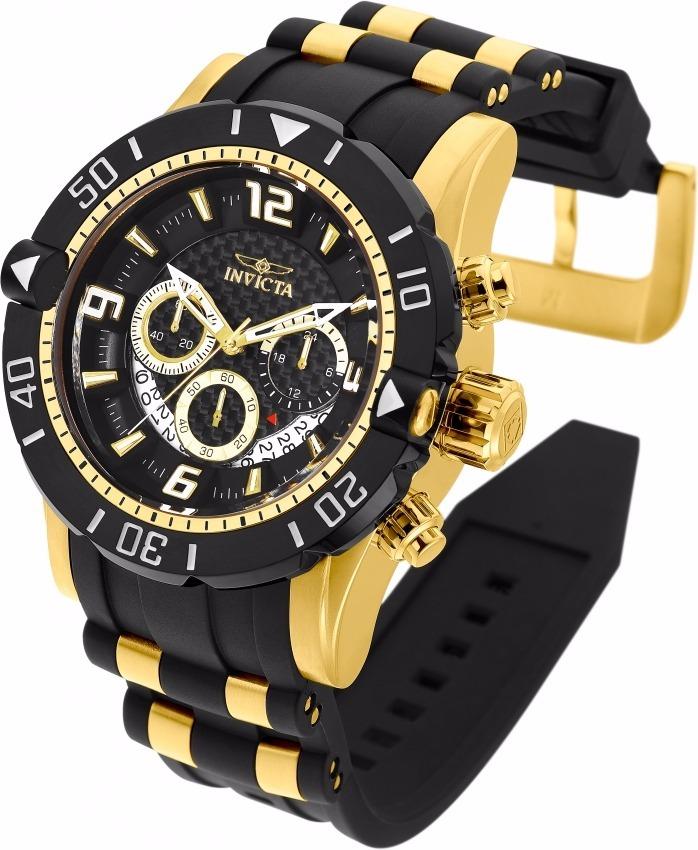 a259a20718e relógio invicta pro diver 23702 ouro 18k com maleta watch. Carregando zoom.