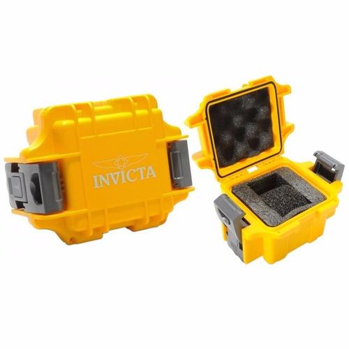 relógio invicta pro diver 23702 ouro 18k com maleta watch