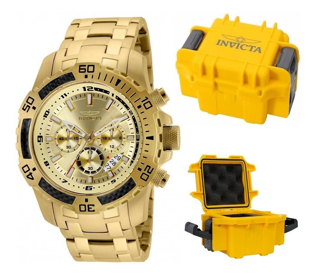 5c6e444e4aa Relógio Invicta Pro Diver 24860 Banhado Ouro 18k Maleta - R$ 2.195 ...