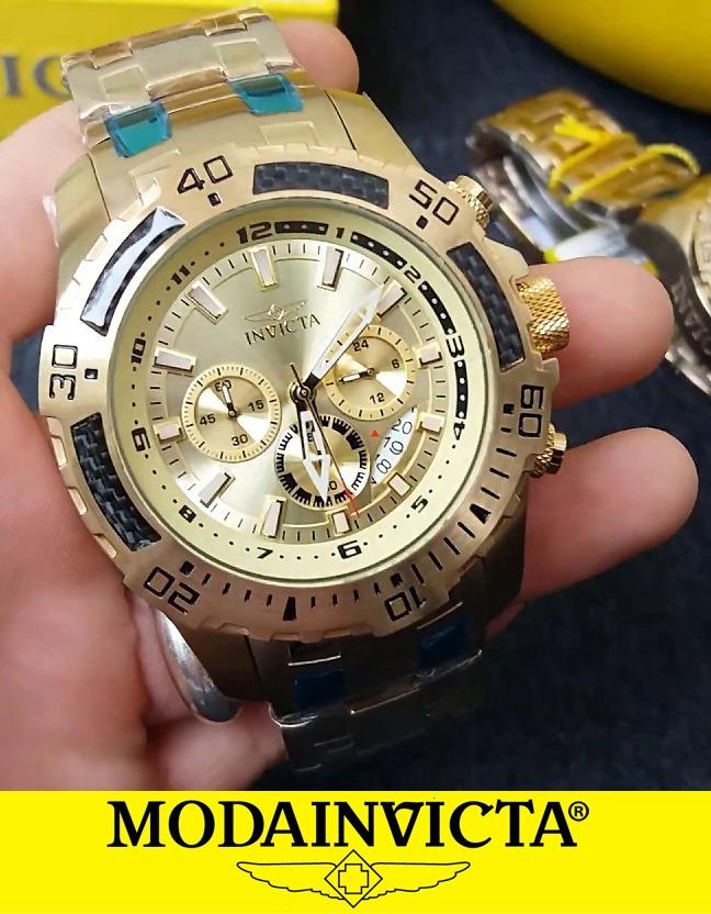 e2304f27953 relógio invicta pro diver 24860 banhado ouro 18k - original. Carregando zoom .