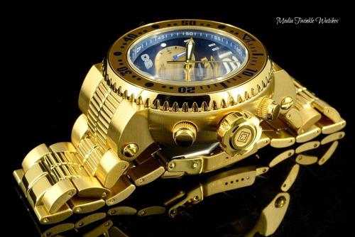 relógio invicta pro diver 25077 masculino banhado ouro 18k