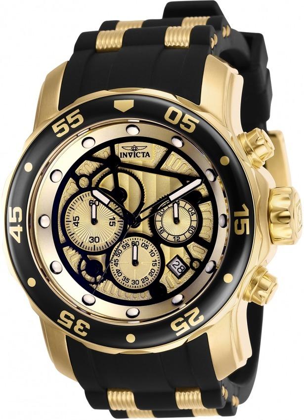 97eda484056 Relógio Invicta Pro Diver 25709 Original Banhado Ouro Maleta - R ...