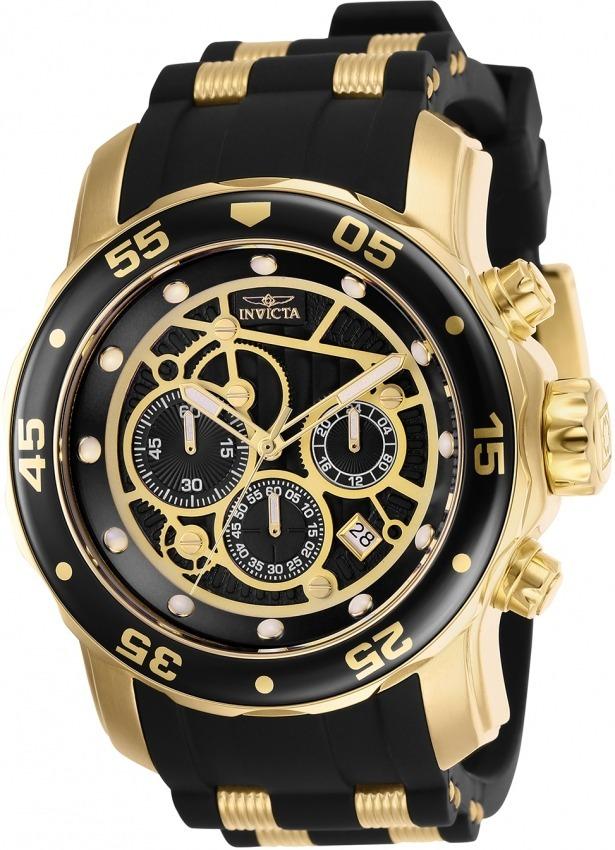 ebb153fbe11 Relógio Invicta Pro Diver 25710 Original Banhado Ouro - R  698