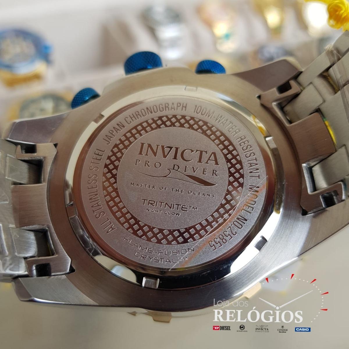 b1ce78480e relógio invicta pro diver 25855 original prata dourado azul. Carregando  zoom.