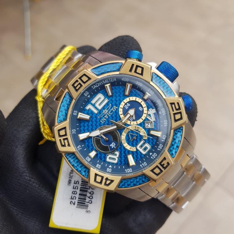 d54747aba4 Relógio Invicta Pro Diver 25855 Original Prata Dourado Azul - R$ 679 ...