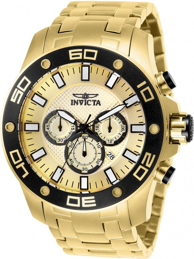 479bc05ab8e Relógio Invicta Pro Diver 26079 Original Dourado B. Ouro 18k - R ...