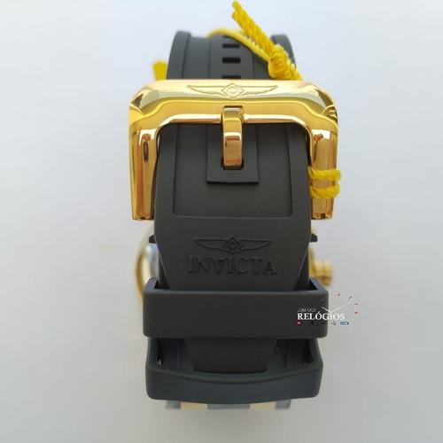 relógio invicta pro diver 6981 21928 dourado b. ouro 18k