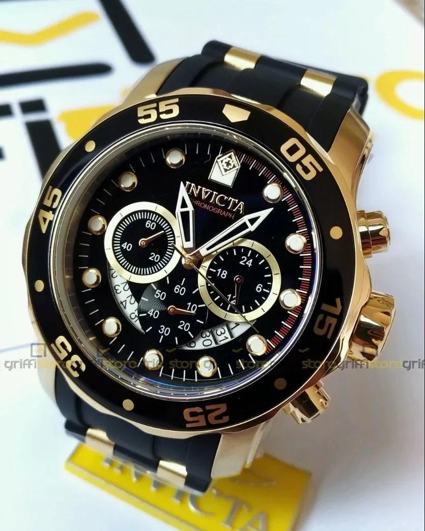 7c83d1801f0 relógio invicta pro diver 6981 masculino preto original. Carregando zoom.