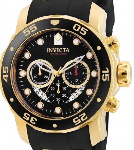 relógio invicta pro diver 6981/21928 dourado  masculino