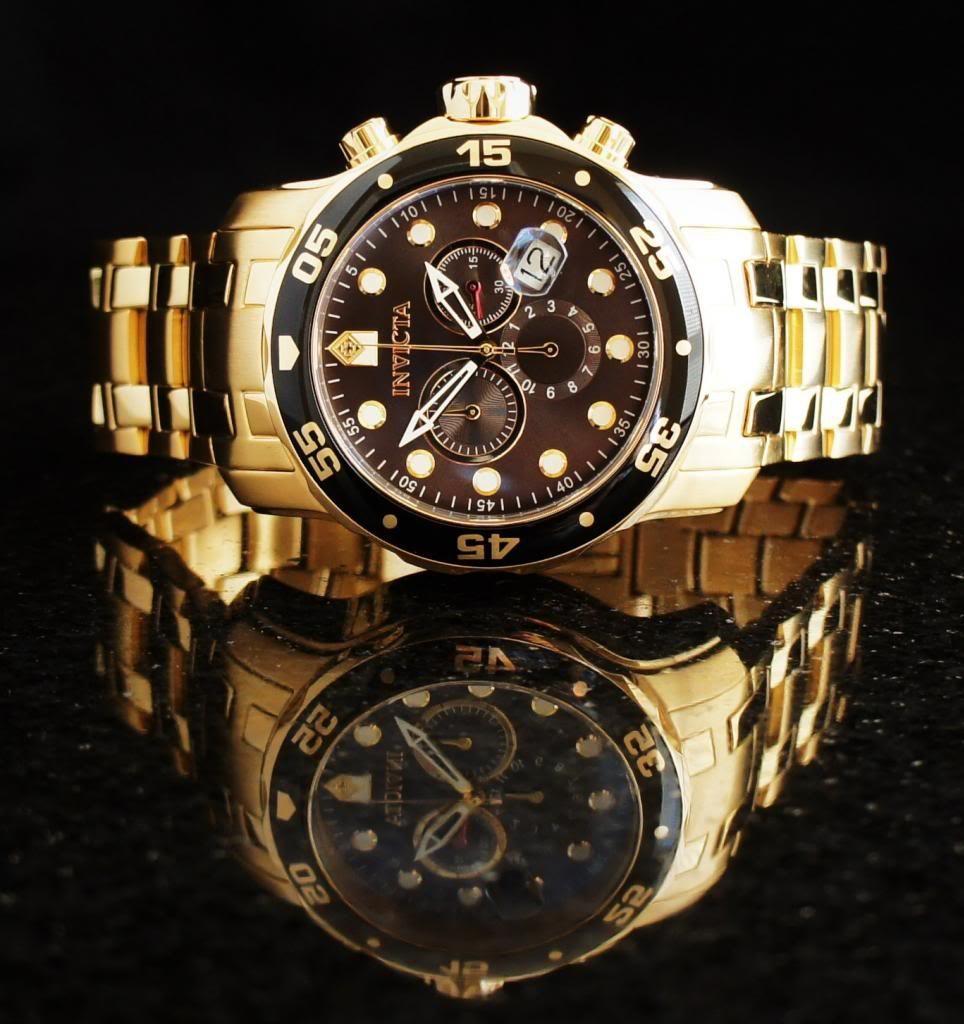 88e38ea73a6 relógio invicta pro diver 80064 dourado masculino. Carregando zoom.