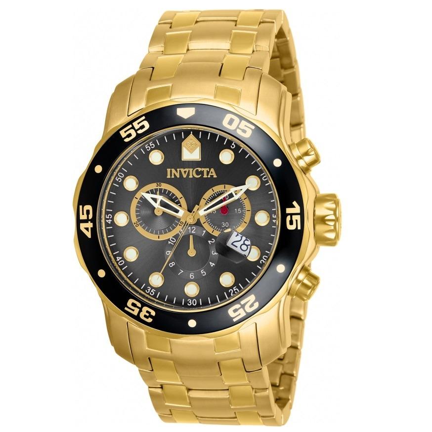 ba2cfa4271d relógio invicta pro diver 80064 masculino dourado. Carregando zoom.