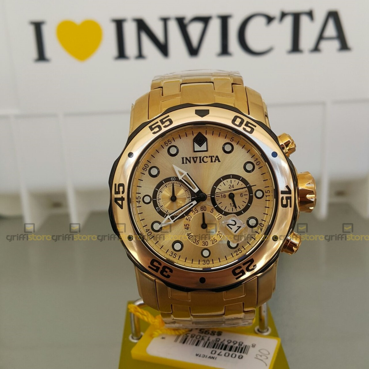 161c8ad8d35 relógio invicta pro diver 80070 original 48mm original crono. Carregando  zoom.