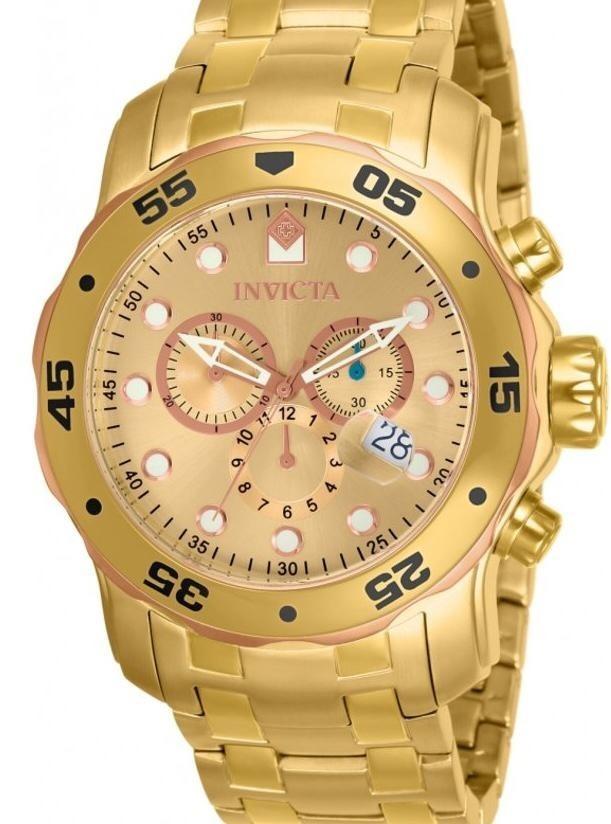 9c7f161cd27 relógio invicta pro diver 80071 - novo ouro 18 k - original. Carregando  zoom.