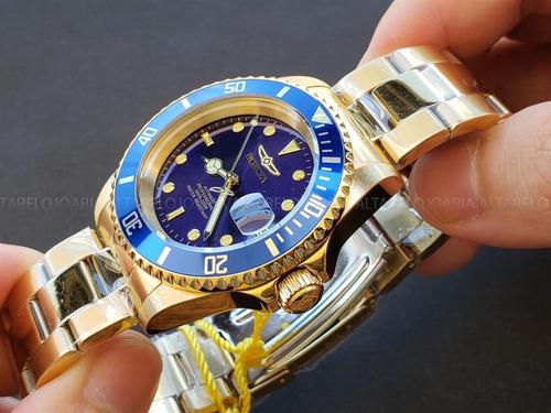 b904bece0ce Relógio Invicta Pro Diver Automático Plaque Ouro 8930ob - R  799