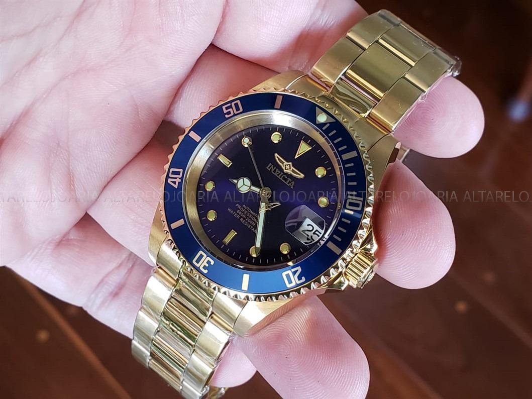 b5a5b31370d relógio invicta pro diver automático plaque ouro 8930ob. Carregando zoom.
