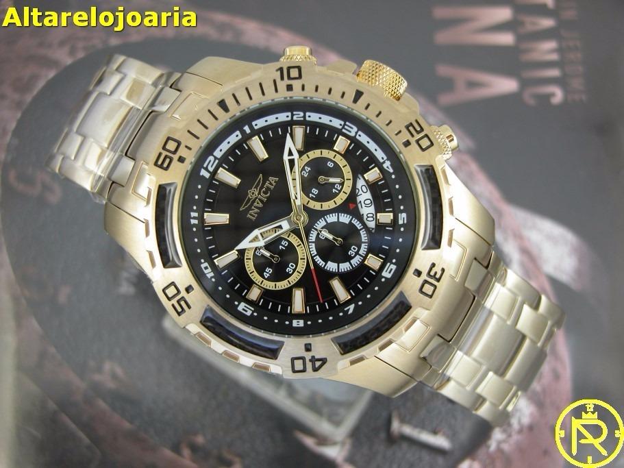 7affe05b8c1 relogio invicta pro diver cronografo plaque ouro 24855. Carregando zoom.