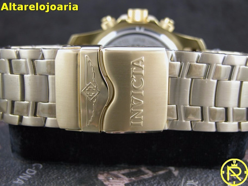relogio invicta pro diver cronografo plaque ouro 24855