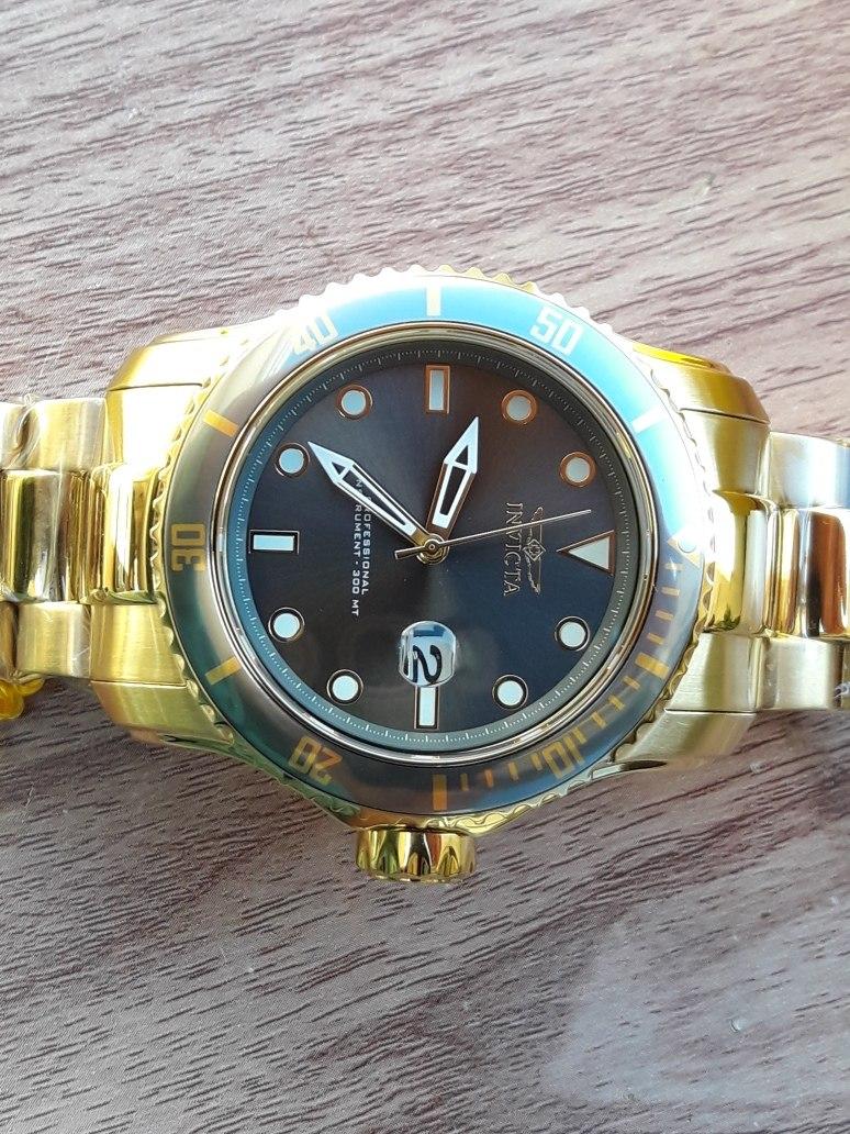 86c2fba6fe5 relogio invicta pro diver gold modelo 15353 novo e original. Carregando  zoom.