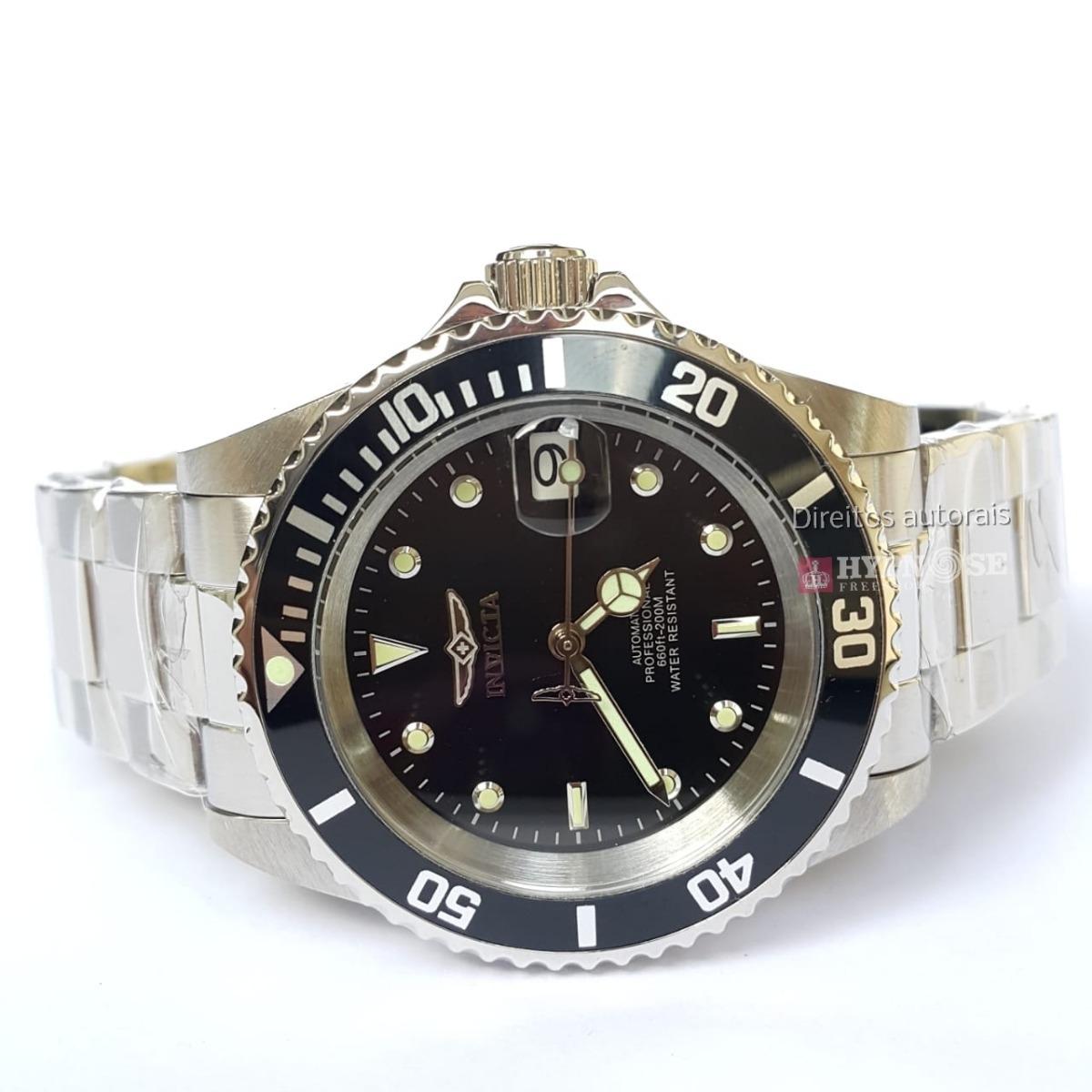 95061c5a440 Relógio Invicta Pro Diver Mod. 8926ob Original Prata C preto - R ...