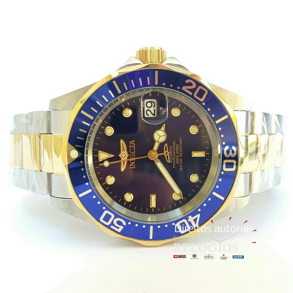 20d4bfeb64d Relógio Invicta Pro Diver Mod 8928 Original Preto Rolex - R  629